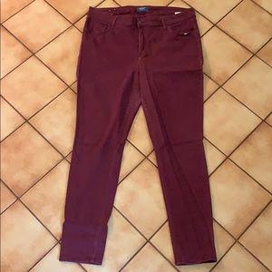 Old Navy Burgundy Rockstar Pants